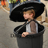 Newburyport: Frank Hillhouse, 6, dressed as a trash can in the Bresnahan School Halloween Parade. Bryan Eaton/Staff Photo
