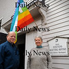 Amesbury: Sam Baily and Barbara Hildt are involved in a peace project at the Friends Meetinghouse in Amesbury. Bryan Eaton/Staff Photo