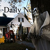 Newburyport: There is a huge array of ghouls and goblins at 57 Woodland Street in Newburyport. Bryan Eaton/Staff Photo