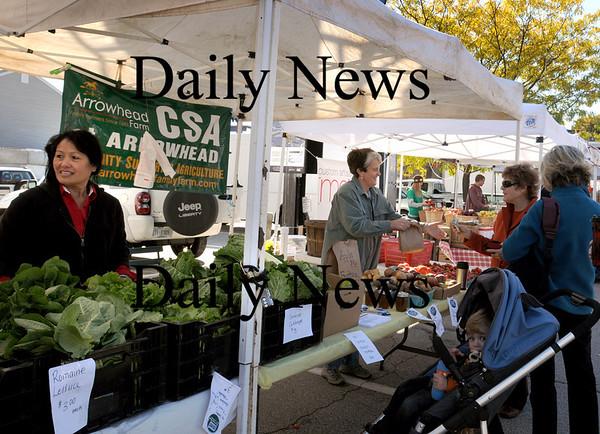 Newburyport: Arrowhead Farm is one of several at Newburyport's Farmer's Market held at the Tannery on Sundays. Bryan Eaton/Staff Photo