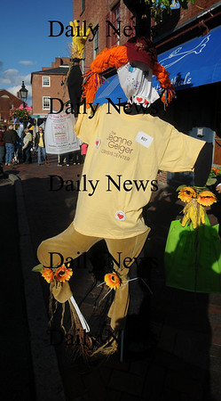 Newburyport: Thye jeanne Geiger Crisis Center entry in the scarecrow contest at the annual Newburyport Harvest Festival Sunday in Market Square. Jim Vaiknoras/Staff photo