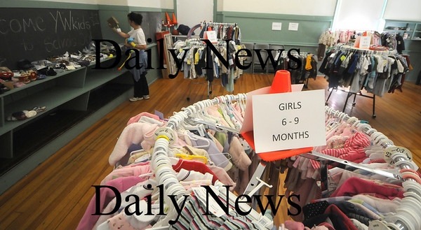 Newburyport: The Newburyport Mother Club Yard sale at the Kelley School Saturday. Jim Vaiknoras/Staff photo