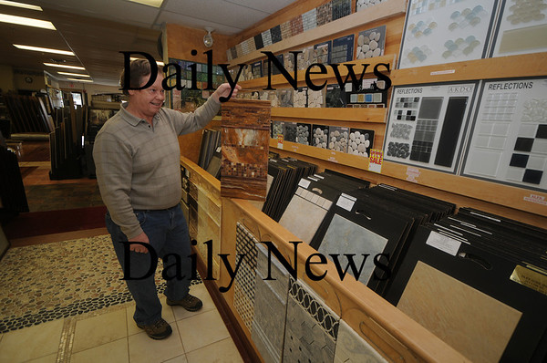 Newburyport: Arthur Bates of Tile gone Wild. Jim Vaiknoras/Staff photo