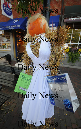 Newburyport: The Nazarian Jewelers entry in the scarecrow contest at the annual Newburyport Harvest Festival Sunday in Market Square.. Jim Vaiknoras/Staff photo
