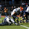 Lynnfield: Triton's Derek Paquette gains yardage against Lynnfield Saturday. Jim Vaiknoras/Staff photo