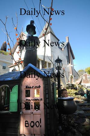 Amesbury: Decorations at 5 Essex Street in Amesbury. Jim Vaiknoras/Staff photo