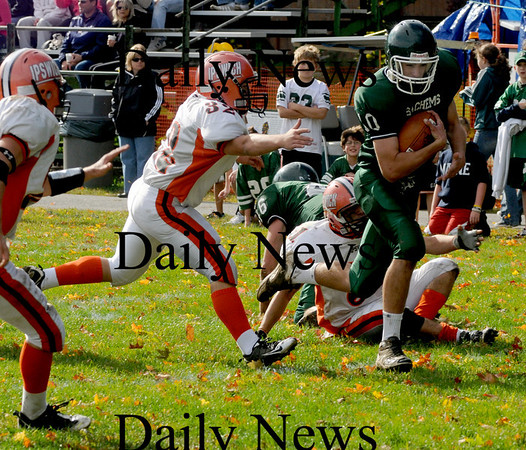 West Newbury: Pentucket'sMike Doud scores aqainst Ipswich during their game in West Newbury Saturday. Jim Vaiknoras/Staff photo
