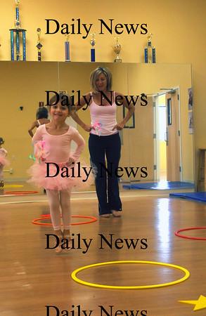 Newburyport: Rowen Brennan, 3, takes a class from Mechele Silverio at Little Broadway Dance Studio in Newburyport. Jim Vaiknoras/Staff photo