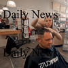 Amesbury: Hair stylist Jen Sheehan trim  costumer Jim Sullivan hair at Supercut in Amesbury. Jim Vaiknoras/Staff photo