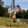 Amesbury: Memorial on Rt 110 in Amesbury in honor of Jordan Shay, a soldier from Amesbury who was killed in Iraq last week. Jim Vaiknoras/Staff photo