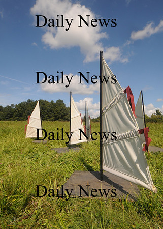 Newburyport: Sailboats at Maudslay outdoor scupture show. Jim Vaiknoras/Staff photo