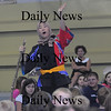 West Newbury; Performer Juni Kobayashi of the taiko drumming group Odaiko New England tells a Japanese folk tall to students at the Paige School Thursday sponsered by Young Audiences of Massachusetts.The students have been studying the culture of Japan in preperation of the event. Jim Vaiknoras/Staff photo