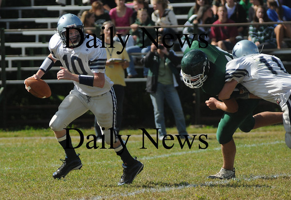 West Newbury:  Hamilton-Wenham quarter back Andy Duval atPentucket  Saturday . Jim Vaiknoras/Staff photo