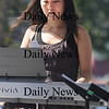 Newburyport: Jazz musician Mina Cho performs at the Labor Day Festival in Market Square Saturday. Jim Vaiknoras/Staff photo