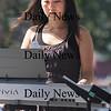 Newburyport: Jazz musician Mina Cho performs at the Labor Day Festival in Market Square Saturday. Jim Vaiknoras/Staff photo