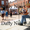 Newburyport: Dale Reynolds peforms at the Labor Day festival in Market Square Monday in Newburyport. Jim Vaiknoras/Staff photo