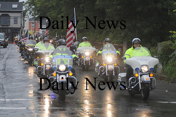 Newburyport: The motorcade for the funeral of Sgt. Jordan Shay makes it's way down Summer Street in Newburyport Saturday morning. Jim Vaiknoras/Staff photo
