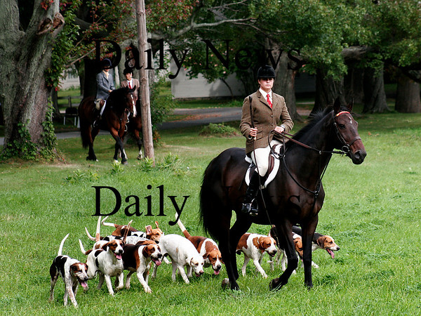 Newbury: The Myopia Hunt Club held a hunt at the Spencer-Pierce-Little Farm in Newbury Tuesday afternoon. Photo by Ben Laing/Staff Photo