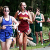 Georgetown: Lauren O'Grady of Georgetown tries to keep pace as Newburyport's Renee Angelo tries to over take her at Wednesday's cross country meet, which also included Pentucket. Photo by Ben Laing/Staff Photo