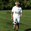 Newburyport: Steve Bajko, senior co-captain of the Newburyport soccer team, juggles the ball during practice Monday afternoon. Photo by Ben Laing/Staff Photo
