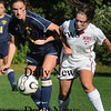 Newburyport: Newburyport's Kerry Johnson, right, tangles with a Lynnfield player yesterday. Bryan Eaton/Staff Photo Newburyport News Thursday September 24, 2009.