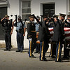 Newburyport: Newburyport and Mass. State Police salute as the body of Jordan Shay is taken into Twomey-LeBlanc Funeral Home yesterday morning. Bryan Eaton/Staff Photo Newburyport News Thursday  September 10, 2009.