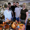Salisbury: The crew at Leeward Light Thrift Store in Salisbury, from left, Shauna, Patrick and Rob Werner, Patrick Wayne and Etta Hallowell. Bryan Eaton/Staff Photo