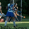 Georgetown: Georgetown's goalie xxxxx goes down after defecting the ball. Bryan Eaton/Staff Photo Newburyport News Tuesday September 15, 2009.