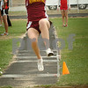 Newburyport: Newburyport's Jean Marie Cheney competes against North Andover in the long jump. Bryan Eaton/Staff Photo