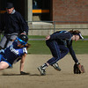 Byfield: Georgetown's Taylor Nelson steals second base as Triton shortstop Brooke Jamison scrambles after the ball. Bryan Eaton/Staff Photo
