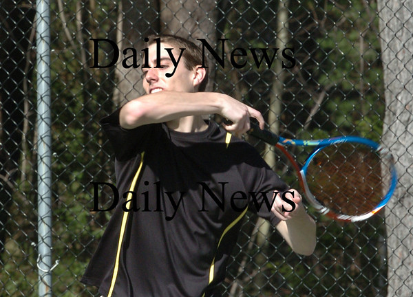 Newburyport: Newburyport High tennis player Nick Ross. Bryan Eaton/Staff Photo