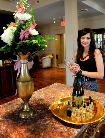 Newburyport: Jessica Laidlaw in the newly renovated lobby of the Garrison Inn. Bryan Eaton/Staff Photo