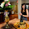 Newburyport: Jessica Laidlaw in the newly renovated lobby of the Garrison Inn. Bryan Eaton/Staff Photo