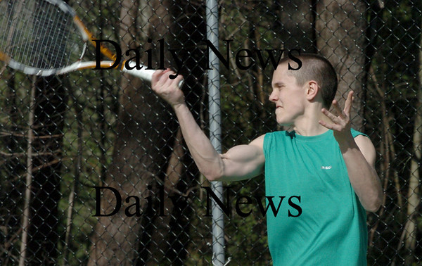 Newburyport: Newburyport High tennis player Nick Filipancic. Bryan Eaton/Staff Photo