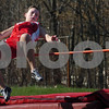 Amesbury: Amesbury high jumper Katie Callahan in competition with Pentucket. Bryan Eaton/Staff Photo