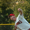 Amesbury: Newburyport Nationals pitcher Jason Salers in play last night in Amesbury. Bryan Eaton/Staff Photo