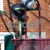 Newburyport: Sparhawk Mulder, 7, of Newburyport looks over the Inn Street Tot Lot high above on the playground equipment. A student at the adjacent Montessori School, he was hanging out with some friends Wednesday afternoon. Bryan Eaton/Staff Photo