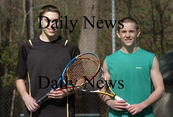Newburyport: Newburyport High tennis players Nick Ross, left, and Nick Filipancic. Bryan Eaton/Staff Photo