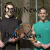Newburyport: Newburyport High tennis players Nick Ross, left, and Nick Filipancic. Bryan Eaton/Staff Photo