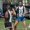 Georgetown: Marblehead's Haley Braun runs into some Georgetown offence in the name of Kim Nowers. Bryan Eaton/Staff Photo