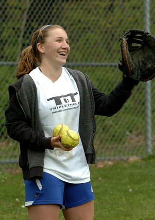 Georgetown: Georgetown High softball catcher Taylor Nelson in practice Tuesday afternoon. Bryan Eaton/Staff Photo