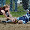 Newburyport: Newburyport third baseman Rachel Notargiacomo slaps the tag on Triton's Kelsey Trudel. Bryan Eaton/Staff Photo