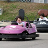 Salisbury: Cameron Stanisewski in the number 7 car, pulls away from his friend, Matthew Young while racing at the Salisbury Kart Land track Wednesday afternoon. The pair were enjoying their spring break with a number of friends, all from North Andover. Photo by Ben Laing/Staff Photo