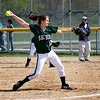 Groveland: Pentucket pitcher Julianne Meehan (12) delivers a pitch against Amesbury during Wednesday morning's game in Groveland. Photo by Ben Laing/Staff Photo