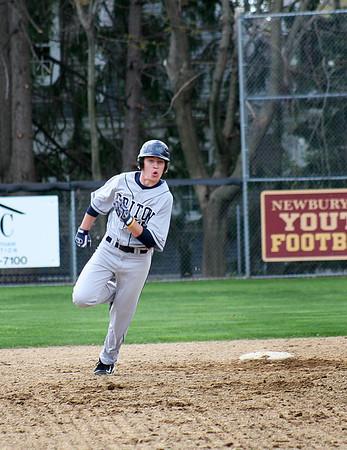 Newburyport: Triton's Whitman (19) chugs around second base during Tuesday's game at Newburyport. Photo by Ben Laing/Staff Photo