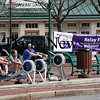 Amesbury: Fundraisers gather at Market Square in Amesbury Monday morning to row in support of the Relay For Life. The event was sponsored by Hard Nock's Gym in Amesbury. Photo by Ben Laing/Staff Photo
