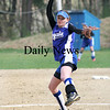Georgetown: Georgetown pitcher Sarah Erlandson winds up as she delivers the opening pitch against Marblehead Monday. Photo by Ben Laing/Staff Photo ***(CHECK WITH EVAN ON HER NAME)***