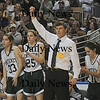 Pentucket girls basketball coach John McNamara at the State Championship game at the DCU Center in Worcester. Jim Vaiknoras/Staff photo