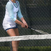 Byfield: Triton's first singles player Lauren Mihalchik returns the ball during the Vikings match against Ipswich. Jim Vaiknoras/Staff photo