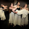 Newburyport: Stephen Haley holding Erin Foley, Wendy Hamel, Ted Speck and Jen Steeves holding Sarah George during the  Exit Dance rehearsal<br /> for their spring production. Jim Vaiknoras/Staff photo